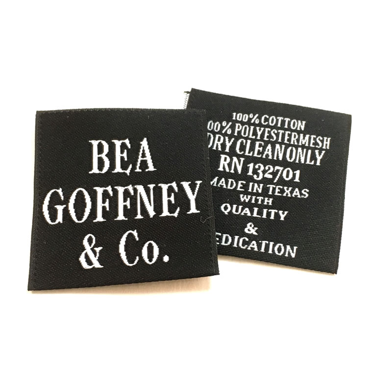 CENTER-FOLD WOVEN LABELS