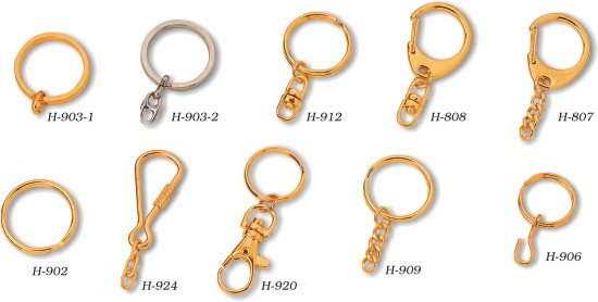 keychain's ring and hook options