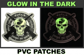 glow in the dark 3d pvc patch