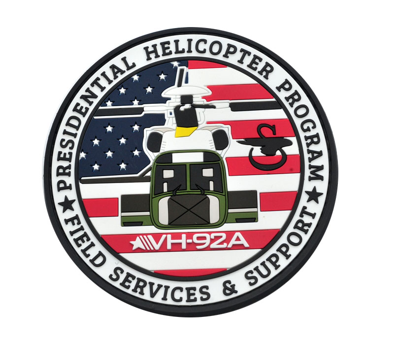 presidential helicopter pvc patches