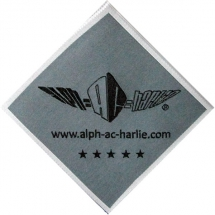 army veteran clothing woven label