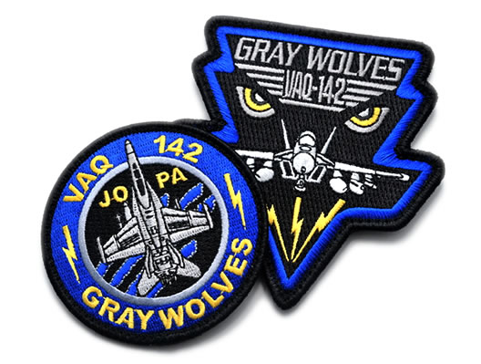 gray wolves embroidered patch