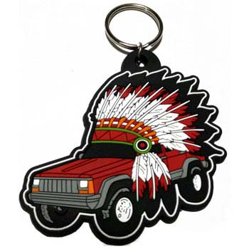 rubber keychain car indian