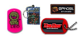 pvc patches, keychains and luggage tags