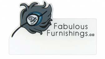 PVC Labels Fabulous Furnishings