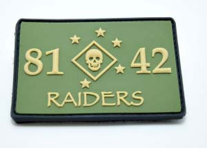 8142 Raiders PVC Patch