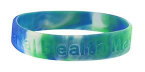 white silicone wristband adoption awareness