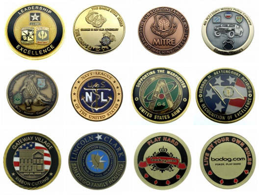 Sample of Corporate, Military, Law Enforcement & Promotional Coins
