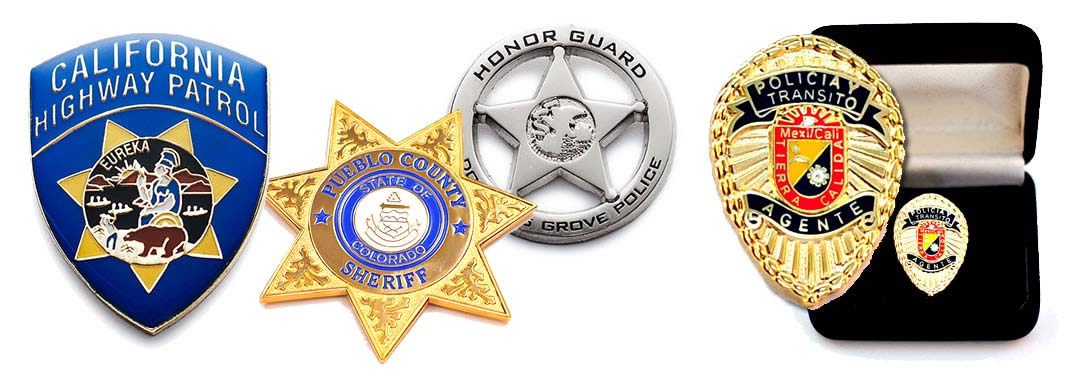 custom mini badges - miniature police courtesy badges
