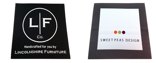 Woven Furniture Labels