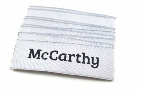 custom damask woven labels