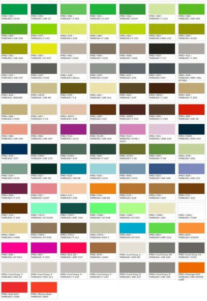 Thread colors for Wholesale Clothing Tags and Labels  2/2